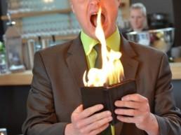 Feuer und Flamme, Betriebsfest in Wilhelmshaven.